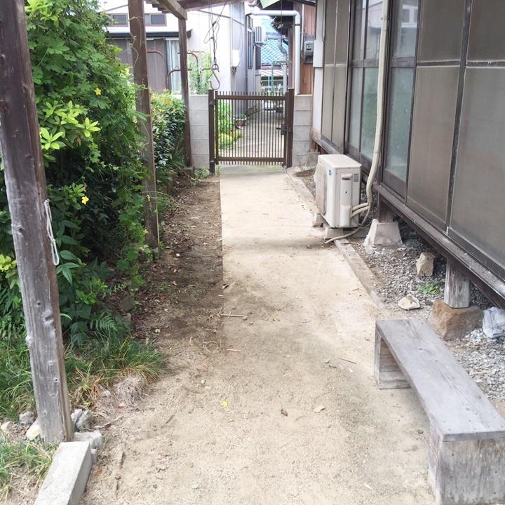 庭の不用品を回収